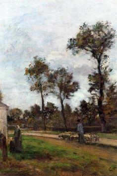 Louveciennes 1870 by Camille Pissarro