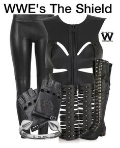 WWE's The Shield by wearwhatyouwatch on Polyvore featuring Fleet Ilya, MuuBaa, Rick Owens, Sterling, Valentino, television and wearwhatyouwatch