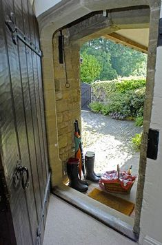 It's hard to decide what to do - go inside and enjoy the cottage charm with a good book or take that basket and run into the English countryside for a picnic!