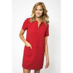 Dress Rivoli Crepe Red - MER DU NORD