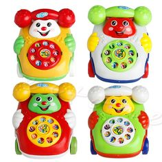 1Pc Baby Toys Music Cartoon Phone Educational Developmental Kids Toy
