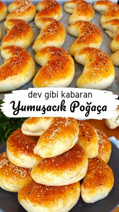 Kabardıkça Kabaran Labneli Poğaça Tarifi – Videolu - Nefis Yemek Tarifleri - galletas - Las recetas más prácticas y fáciles Cake Recipes For Kids, Donut Recipes, Pastry Recipes, Pizza Recipes, Baking Recipes, Dessert Recipes, Delicious Desserts, Yummy Food, Delicious Donuts