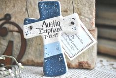 Colorblock Cross Baptism Favor / by cookiedoughcreations on Etsy