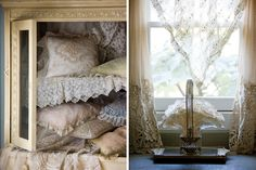 From collars and handkerchiefs to curtains and pillow slips, antique lace reweaves the threads of history to decorate our everyday lives.