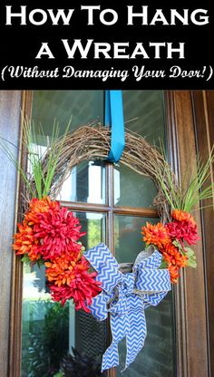 This post is long overdue, as so many of you have asked me this question since the first wreath tutorial I posted way back when.   How do I hang my wreaths?               Very simply-- I loop a long r