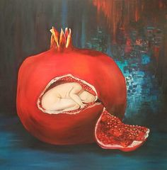 Abstract Wall Art, Canvas Wall Art, Canvas Prints, Pomegranate Art, Original Artwork, Original Paintings, Living Room Art, Oil Painting On Canvas, Office Canvas