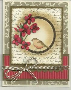QFTD115, Queen Becky by barbaradwyer82 - Cards and Paper Crafts at Splitcoaststampers. Stamp is by Hero Arts - bird in a circle