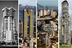 Some of the crazy buildings in Benidorm, the futuristic skyline of this small tourist town has been compared to that of Manhatten!