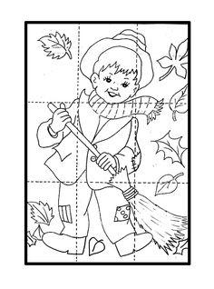 * Herfstpuzzel...kleuren, knippen en opplakken... Preschool Puzzles, Body Preschool, Fall Preschool, Preschool Activities, Fall Arts And Crafts, Holiday Crafts For Kids, Autumn Crafts, Art Activities For Kids, Autumn Activities