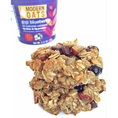 Get up and go with this antioxidant rich, delicious blend of Himalayan Goji berry and juicy wild blueberry oatmeal loaded with flax seed, pumpkins seeds, and California almonds. This blend has enough good energy to power through any day. Certified Gluten-Free Whole Rain Rolled Oats, Organic Cane Sugar, Flax Seeds, Pumpkin Seeds, Almonds, Sunflower Seeds, Dried Sweetened Blueberries, Organic Goji Berries, Sweetened Saskatoon Berries, Coconut, Cinnamon and Natural Vanilla Flavor…