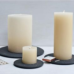 Accessories: Slate Candle Trays from West Elm : Remodelista