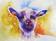 """Little Lamb"" - Original Fine Art for Sale - © Arti Chauhan"