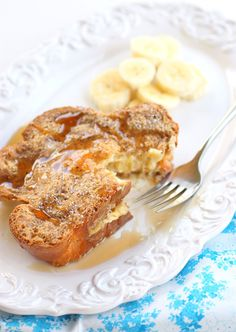 Banana stuffed french toast, vday breakfast buffet for the single girls day of self love