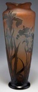 Galle Vase with Irises Design