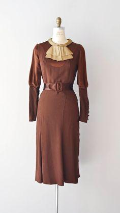 1930s dress / bias silk satin