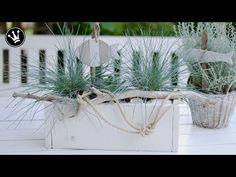DIY - MARITIME DEKO aus BETON selbermachen | Hauswurz, Gräser mit Fische/Anker aus Knetbeton - YouTube
