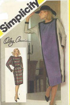 80s Oleg Cassini Womens Dolman Sleeve Dress Color by CloesCloset