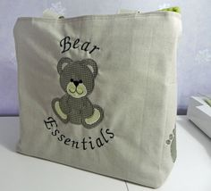 Large tote cum nappy bag with pockets a plenty by EverSewUnique