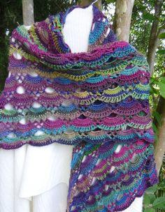 Crochet shawl shoulder cover prayer shawl by KorneliasKreations