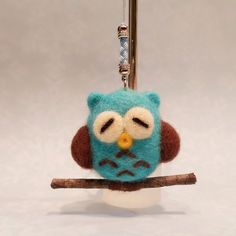 Needle Felted Owl Felt Owl Ornament Felted by DesignedbyAbble
