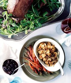 Roast Goose with Pickled Cherries :: Gourmet Traveller