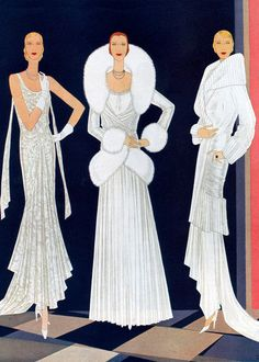 Jazz Age Fashion: Three White Velvet Gowns of the 1920s by Anonymous from Green Tiger Press