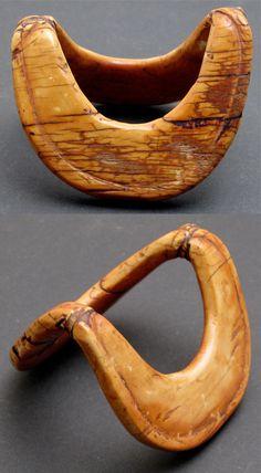 Kenya | Old bracelet from the Kikuyu people | Ivory; beautiful darkened patina, with one village repair
