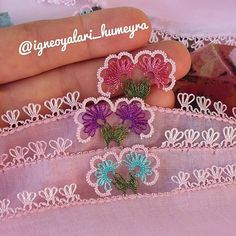#igneoyasi - Instagram photos and videos | WEBSTAGRAM Needle Lace, Tatting, Diy And Crafts, Crochet Earrings, Embroidery, Pattern, Instagram, Jewelry, Towels