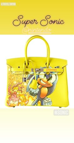 b7a9901a5a NINTENDO SUPER SONIC BIRKIN 35CM BAG ART.  artburo  art  fashion   fashionista  design  luxury  nintendo  hermes  supermario  personalization   auction ...