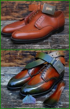 Dandy Shoe Care patina apron toe
