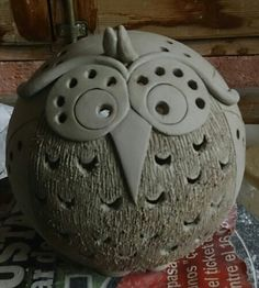 owl clay figure