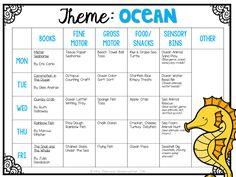 Tons of ocean themed ideas perfect for Tot School, Preschool, or the kindergarten classroom.