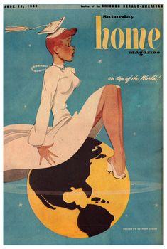 Vintage et cancrelats: Vernon Grant : Saturday Home Magazine, juin 1949