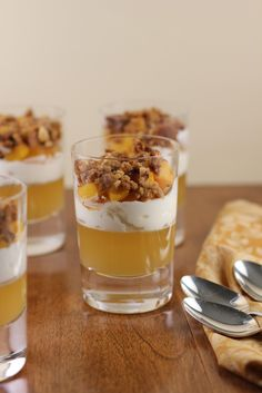 Peach and Honey Verrine
