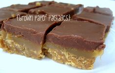 Choc caramel bars {weekend recipe edition} the most delicious thing you'll ever eat - Simply Kierste