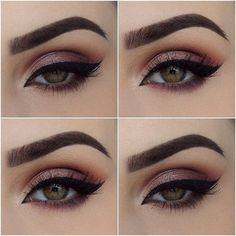 """Paulina on Instagram: """"Ahh it's a good brow day today ? Eyeshadows are... ❤ liked on Polyvore featuring beauty products, makeup, eye makeup, eyeshadow, palette eyeshadow and eye brow makeup"""