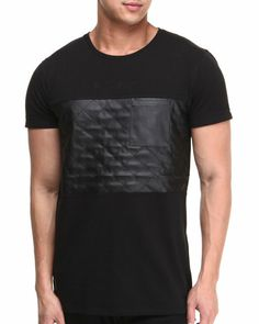 DrJays.com - Detailed Images of Griffin PU Pieced Tee by Black Kaviar