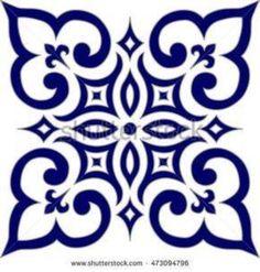 Geometric Islamic Pattern Arabesque blue and white., Geometric Islamic Pattern Arabesque blue and white. Geometric Islamic Pattern Arabesque blue and white. Stencil Patterns, Stencil Designs, Tile Patterns, Islamic Tiles, Islamic Art, Doodle Drawing, Stencils, Islamic Patterns, Islamic Motifs