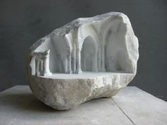 Historic Architectural Structures Intricately Carved into Blocks of Marble - My Modern Met