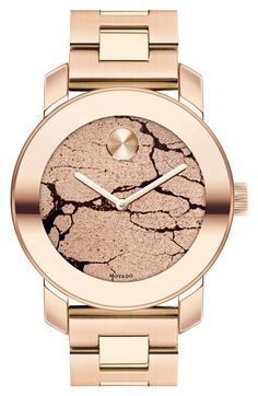 Movado 'Bold' Crackle Dial Bracelet Watch, 36mm available at #Nordstrom