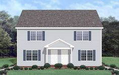Multi-Family Plan 45370 | Colonial    Plan with 2560 Sq. Ft., 6 Bedrooms, 6 Bathrooms