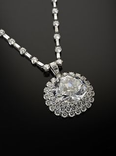 """Idol's Eye"" Diamond with Harry Winston Necklace Date: Diamond: early 17th century, Necklace: mid 20th century Islamic"