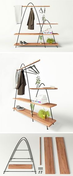 ♥집에 있는 아로마 향 수대에 판넬에 구멍뚤어 움직임을 방지♥Mario Tsai of ZZ Design Studio has created a concept for a shelving unit named Mountains, that has been inspired by Chinese landscape paintings.