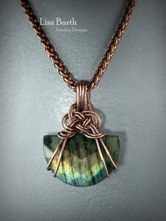 This Celtic Knot as a bail is so good for odd shaped stones.  You can use it for so many things.  Here is the link if you want to learn how.  https://www.etsy.com/listing/519103260/celtic-knot-bail-tutorial?ref=shop_home_active_1