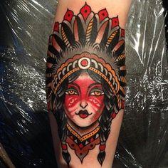 native american woman tattoo - Google Search