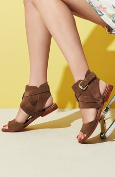 Summer trend alert: suede cutout sandals