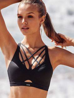 Trendy Fitness Outfits : Lightweight by Victorias Secret Strappy-Back Sport Bra Victorias Secret Sp