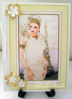 Art Deco Card White - Birthday, Art Deco, Glamour, Mother, Sister, Daughter, Anniversary, Female, Girly, Glitz