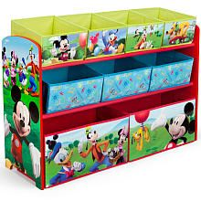 Disney Mickey Mouse Deluded 9 Bin Toy Organizer