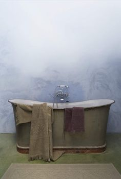 Nothing is more relaxing than a peaceful bath in soothing warm water. This antique one is an perfect example.